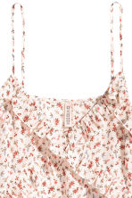 Frilled top - Natural white/Small floral - Ladies | H&M 3